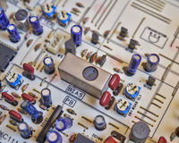 Electronic circuitry in hi fidelity equipment Royalty Free Stock Photography