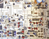 Electronic circuitry in hi fidelity equipment Stock Photo