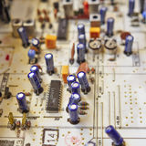 Electronic circuitry in a hi fidelity radio Royalty Free Stock Photography