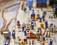 Electronic circuitry in a hi fidelity radio Stock Images