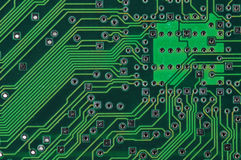 Electronic Circuits. Close-up stock image
