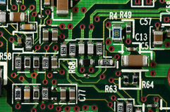 Electronic Circuits. Close-up stock photos