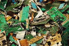 Electronic circuits garbage Stock Image