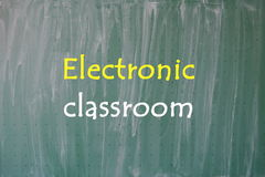Electronic classroom Stock Photography