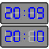 Electronic clock. Vector illustration of electronic clock royalty free illustration