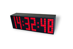 Electronic clock Royalty Free Stock Photos