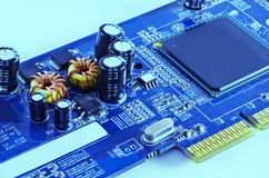 Electronic Coil and CPU Stock Photos