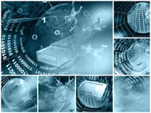 Electronic Collage (blue) Royalty Free Stock Image