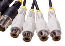 Electronic collection - Audio Video connector Stock Photography