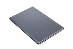 Electronic collection - Closed modern laptop top view isolated o Royalty Free Stock Photography