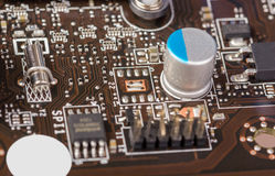 Electronic collection - computer circuit board Royalty Free Stock Photos