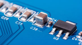Electronic collection - computer circuit board Royalty Free Stock Photography