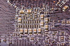 Electronic collection - computer circuit board Royalty Free Stock Images