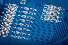 Electronic collection - computer circuit board Stock Images