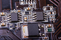 Electronic collection - computer circuit board Stock Photography