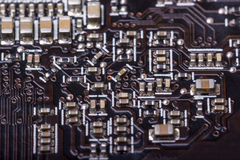 Electronic collection - computer circuit board Royalty Free Stock Photo