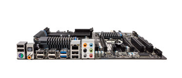 Electronic collection - Computer motherboard without CPU cooler Royalty Free Stock Photo