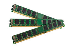 Electronic collection - computer random access memory (RAM) modu Stock Photos