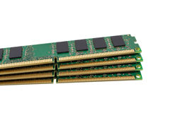 Electronic collection - computer random access memory (RAM) modu Stock Image