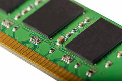 Electronic collection - computer random access memory RAM modu. Les isolated on the white background Stock Image