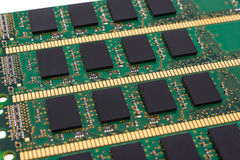 Electronic collection - computer random access memory (RAM) modu Royalty Free Stock Photo
