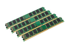 Electronic collection - computer random access memory (RAM) module Royalty Free Stock Image