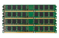 Electronic collection - computer random access memory (RAM) modules Royalty Free Stock Photo