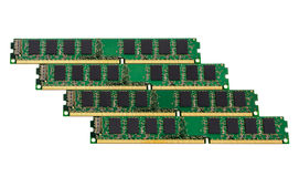 Electronic collection - computer random access memory (RAM) modu Stock Photography