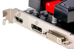 Electronic collection - Computer videocard connector Stock Photo