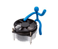 Electronic collection - CPU cooler Royalty Free Stock Photo