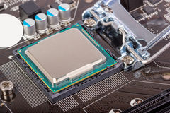 Electronic collection - CPU socket on motherboard Stock Images