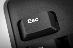 Electronic collection - detail black computer keyboard. The focu Royalty Free Stock Photos