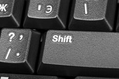 Electronic collection - detail black computer keyboard with key Royalty Free Stock Photos
