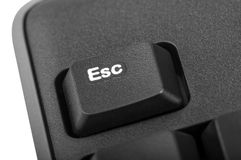 Electronic collection - detail black computer keyboard Stock Photo