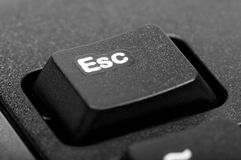Electronic collection - detail black computer keyboard Royalty Free Stock Images
