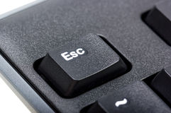 Electronic collection - detail black computer keyboard Royalty Free Stock Image
