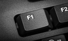 Electronic collection - detail computer. The focus on F1 key. Stock Photo