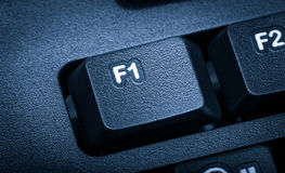 Electronic collection - detail computer. The focus on F1 key. To Stock Photo
