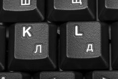 Electronic collection - detail computer keyboard Royalty Free Stock Photography