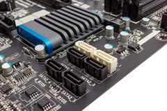 Electronic collection - digital components on computer mainboard Royalty Free Stock Photography