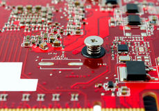 Electronic collection - Electronic components on the PCB Royalty Free Stock Images