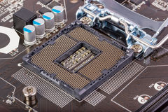 Electronic collection - Empty CPU socket Royalty Free Stock Photos