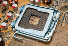 Electronic collection - Empty CPU socket Royalty Free Stock Images