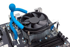 Electronic collection - Installing CPU cooler Stock Photos