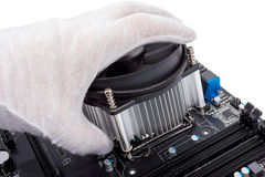 Electronic collection - Installing CPU cooler Royalty Free Stock Photo