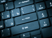 Electronic collection - laptop keyboard. The focus on the Enter Royalty Free Stock Photos