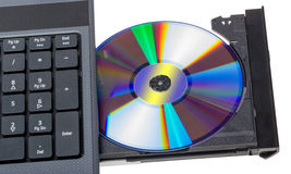 Electronic collection - Laptop with open DVD tray Stock Photo