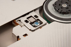 Electronic collection - Laser head of CD DVD drive. Laser head of CD DVD drive, macro shot Stock Image