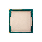 Electronic collection - Modern CPU isolated on white background Stock Photos