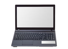 Electronic collection - Modern laptop isolated on white backgrou Stock Images